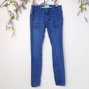 Current Elliot Blue Combat Skinny Jeans